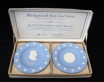 Wedgwood State Seal Series. Number 8. Maryland. Commemorative. Declaration Of Independance. British Made