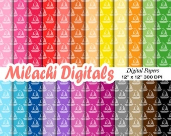 60% OFF SALE Boat digital paper, sailing scrapbook papers, nautical wallpaper, sail away background, birthday party - M513