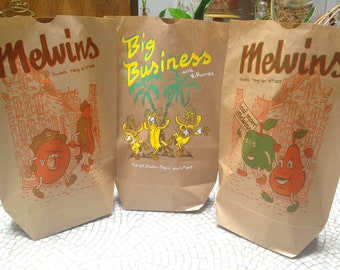3 poster bags MELVINS and BIG BUSINESS