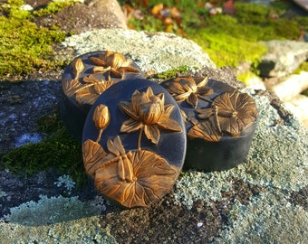 Chinoiserie Handmade Triple Butter Vegan Soap with Australian Black Clay