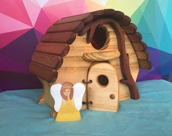 Fairy home, Handmade, Wooden,
