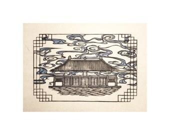 Foguang Monastery Print