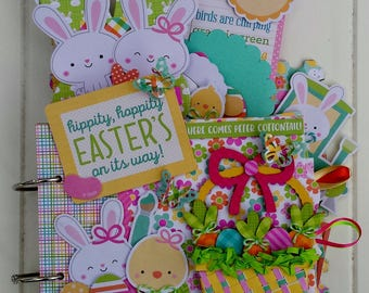 Easter's On It's Way Mini Chipboard Album Kit