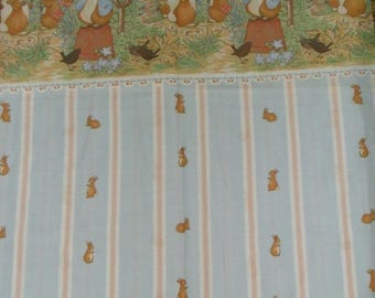 Rare Vintage Peter Rabbit Fabric (cotton)