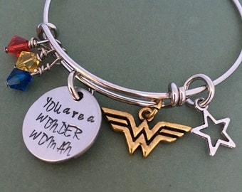 Wonder Woman: You are a Wonder Woman Bracelet - great for Mother's Day