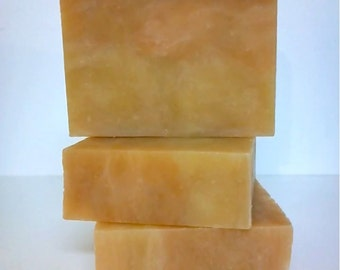 Peach Soap,Peaches And Cream Soap,Shea Butter Soap,Soap With Clay,Kaolin Clay Soap,Peach Scent Soap,Fruit Scented Soap,Summer Soap