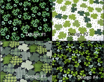 Shamrocks & Clover Fabric~by the 1/2 yd~4 designs~cotton~Irish~St. Patrick's~Plants