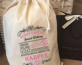 Personalised Hoppy Easter Gift Bags Various Sizes  - Harper Design