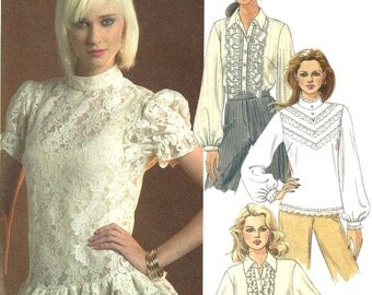 McCall's M5181 Sewing Pattern Misses Shirts and Blouses Ruffles and Lace sz 6 thru 12 Uncut