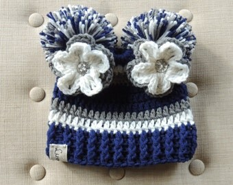 Crochet Football hat, Luv Beanies, Dallas Cowboy inspired, Dallas Cowboy hats, Cowboys beanie, girl football hats, baby hats
