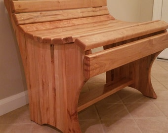 Hand Made Table Bench, Ambrosia Maple Large Table Chair, Kitchen Furniture, Dining Room Furniture, farm table bench,