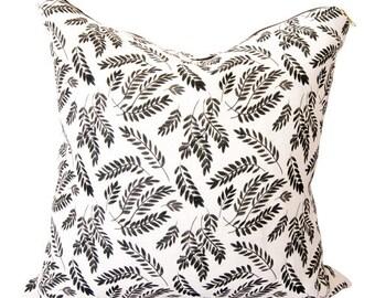 SALE: Black Cora Print Cushion Cover by Louise Dean