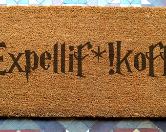 door mat  Expelif*!koff engraved coir door mat Size: 400 x 600 mm   UK Based