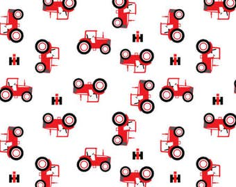 Tractor Crib Sheet, Fitted Crib sheet, Farm crib sheet, Tractor baby Bedding, Red Tractor Crib sheet, Tractor Nursery, Tractor Crib Bedding