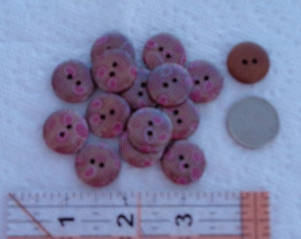 Sparkling Polka Dot Wood Buttons