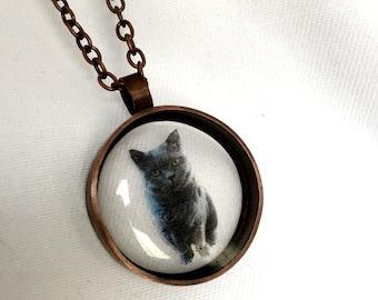 British Blue Cat Pendant