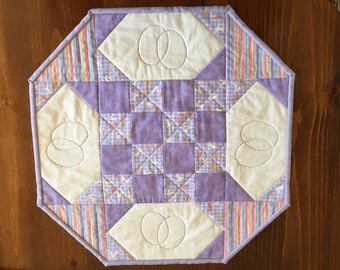 Quilted Table Topper.  Can be made for all holidays or occassions.