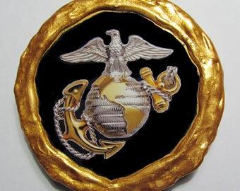 NEW!!! - U.S. Marines Emblem Magnet - Multi-Colored - Refrigerator Magnet
