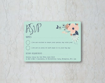 SImply Floral RSVP