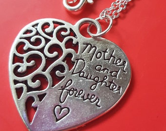 Mother and Daugther Forever. Lovely Necklace. Mother Gift. Family Jewel.