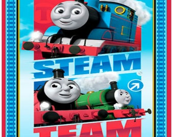 Thomas and Friends Steam Team Fabric Panel Thomas the Train Quilt Fabric Panel