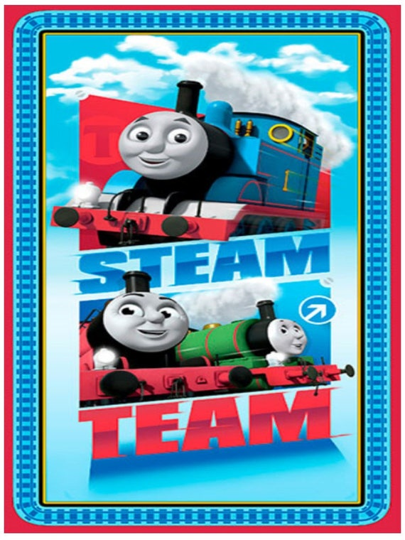 Thomas And Friends Steam Team Fabric Panel Thomas The