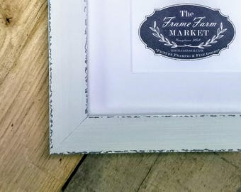 Adrie Antique White Wood Picture Frame 8x10, 9x12, 11x14, 14x16, 16x20 Custom Standard and custom sizes available.