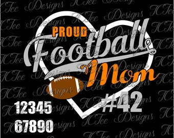 Proud Football Mom SVG File
