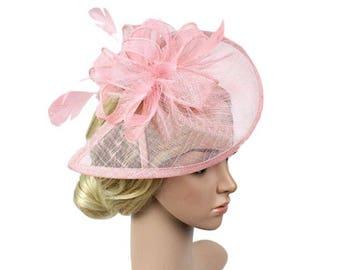 Light pink fascinators, derby event, purple fascinators, headbands, feather headbands, combs