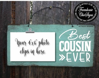 cousin gift for cousin cousin sign cousin gift cousin signs cousin picture frame best cousin ever best cousin sign