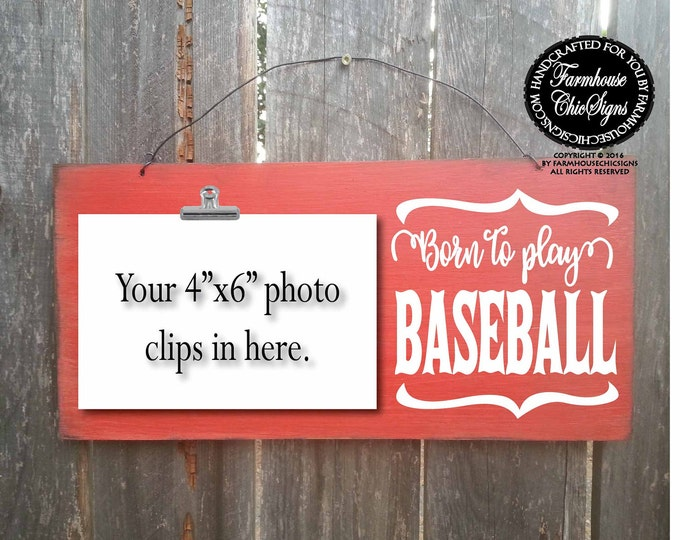 born to play baseball, baseball sign, baseball gift, gift for baseball player, baseball gifts, baseball decor, baseball gifts for men