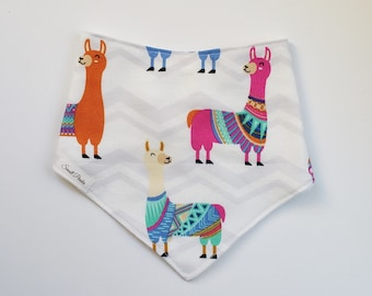 Bandana Bib Lama Print READY TO SHIP