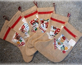 Christmas Sale items/Christmas stockings/sewing kit/baby Noah/baby Emily/Christmas/small stockings/new baby stockings/reduced