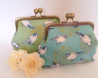 Japanese Cotton Purse - Birds