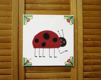 Ladybug #2 Fabric Wall Art