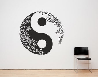 Yin and Yang Taoism/Daoism Symbol, Any Size and Colour, Decal Sticker Art.(#156)