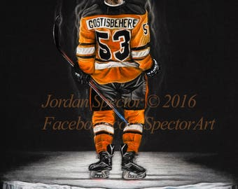 shayne gostisbehere philadelphia flyers art print philly art man cave flyers
