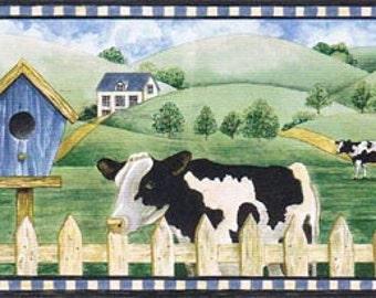 Cows  Farm AFR7122 Wallpaper Border