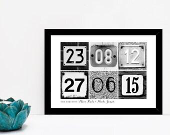 Personalised Date Art Print