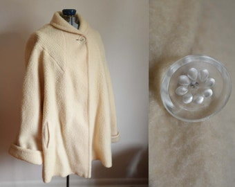 Vintage Swing Coat with Lucinite Button