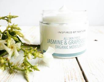 Jasmine Face Cream, Organic Moisturizer, Organic Skin Care, Natural Skin Care, Organic Day Cream, Natural Moisturizer, Vegan