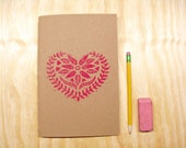 Sketchbook Journal Valentines Day - Magenta Heart - Swedish - Love