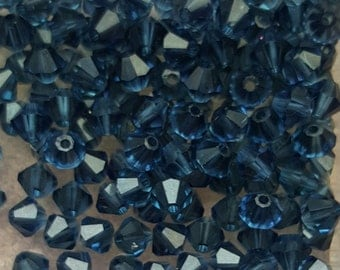 Swarovski 4mm Bicone Faceted Crystal Beads - MORION - 10, 20, 50 or 100 Beads