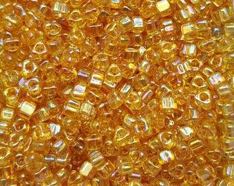 Miyuki 5/0 Triangle Beads  - Iris Amber TR5-1152 - 20g