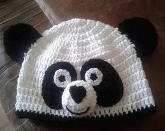 Crochet Panda Hat. bear hat. panda hat. bear. winter hat