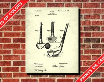 Golf Club Patent Print, Vintage Golf Poster, Golfing Wall Art, Golfer Gift, Golf Decor, Golf Wall Art