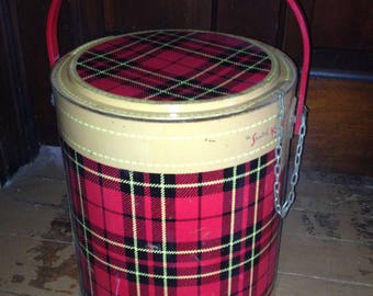 Vintage Skotch Kooler 4 Gallon DeLuxe Plaid Cooler Ice Bucket