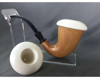 XL size calabash pipe with meerschaum top and extra insert