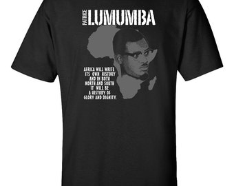 Patrice Lumumba T-Shirt Black Lives Matter African History Martin Luther King By Any Means Malcolm X