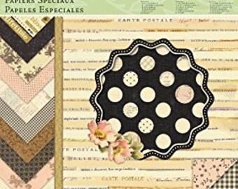 K&Company Designer Paper Pad, Brenda Walton Maison, 12 by 12-Inch scrapbooking paper, card making